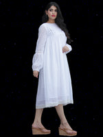 Chandni Raina - Cotton Dobby Midi Dress - D447FP02