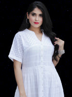 Chandni Aisha - Cotton Dobby Midi Shirt Dress - D448FP03