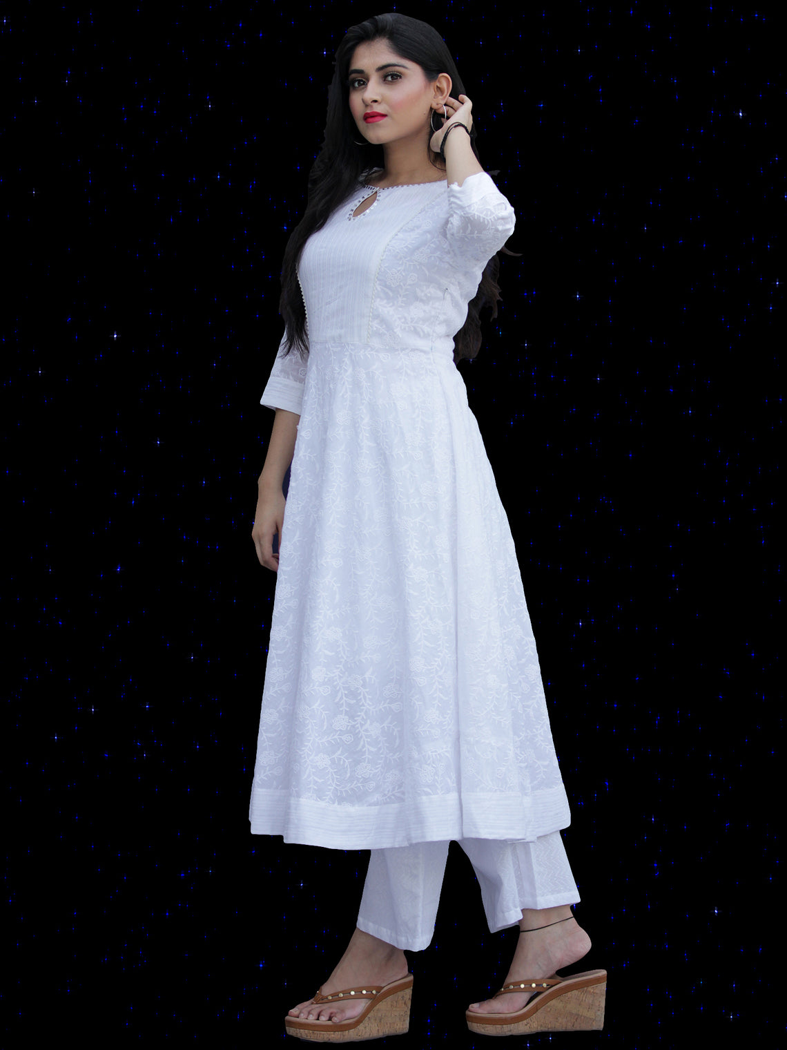 Chandni Sabd - Embroidered Cotton Kurta - KS37PFP02