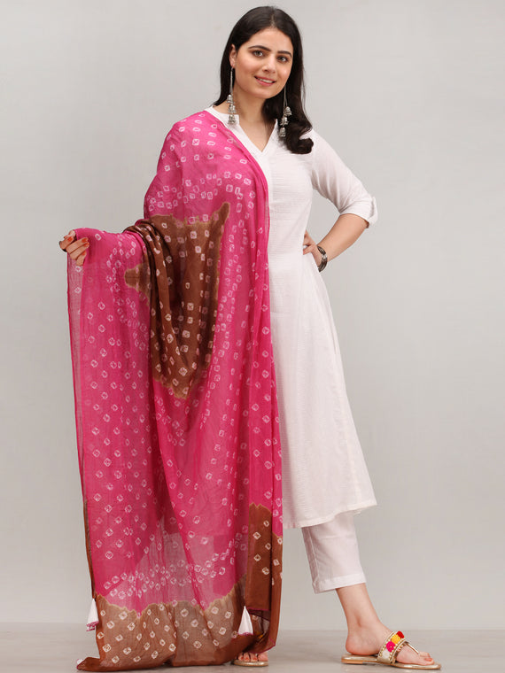 Noor Banaz - Self Emboss Work ALine Kurta Pant Set With Bandhini Dupatta - KS39AXXD8
