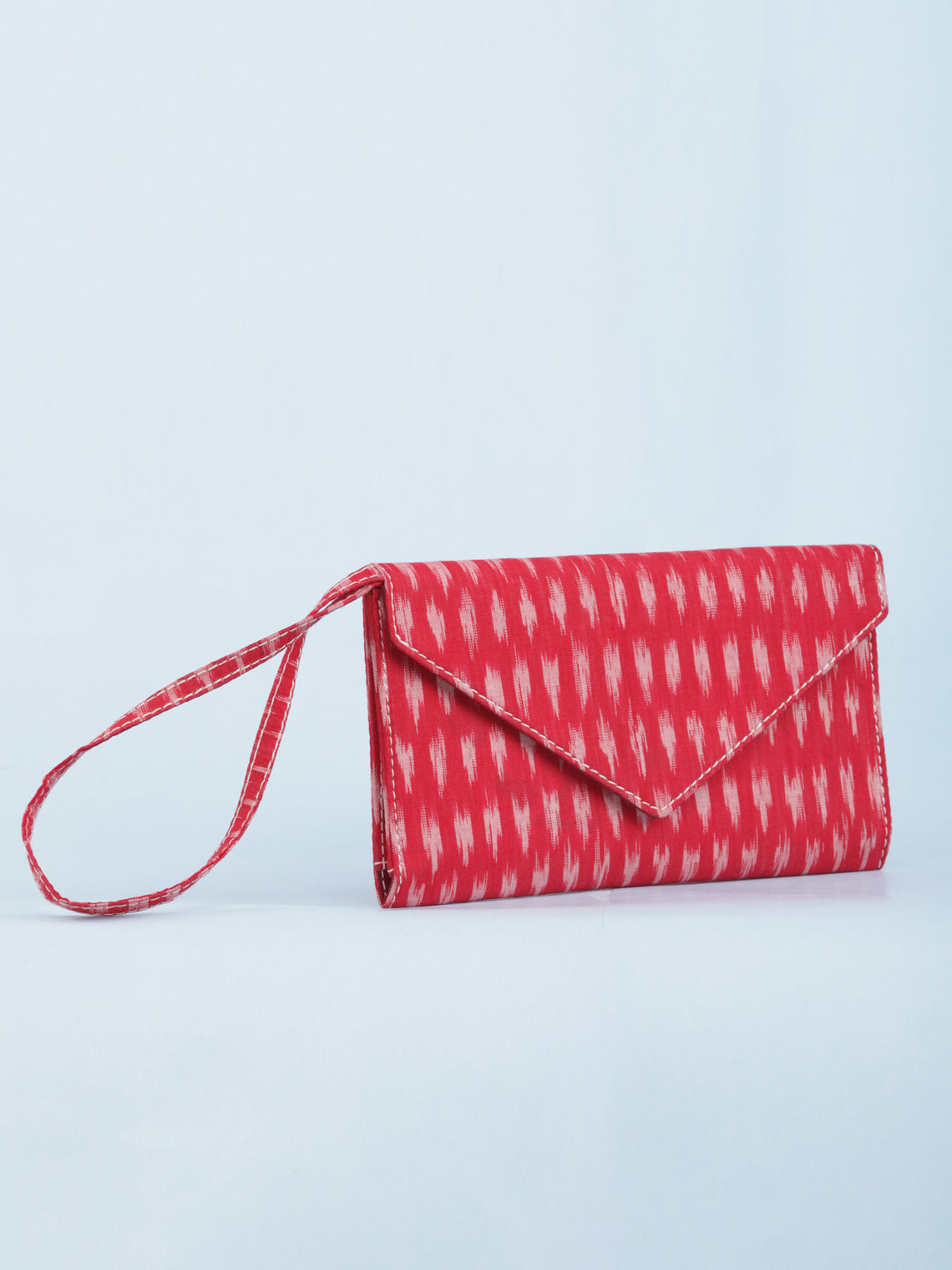 Red Ikat Small Clutch Bag - B1401