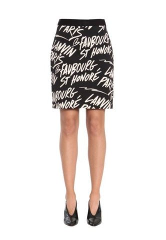 Black Amelianna Print Wrap Dress