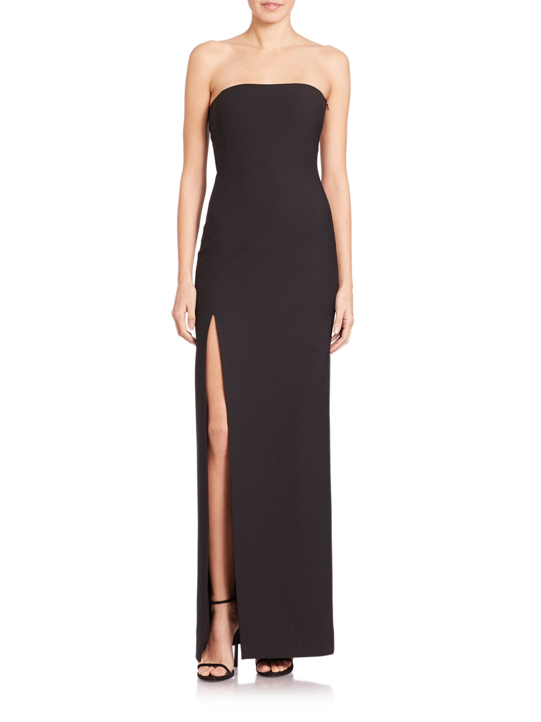 Black Seiler Strapless Stretch­ Cady Gown