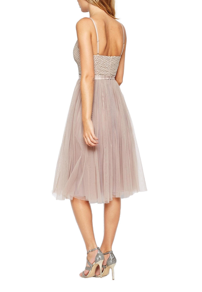 Nude Coppelia Embellished Ballet Tulle Dress