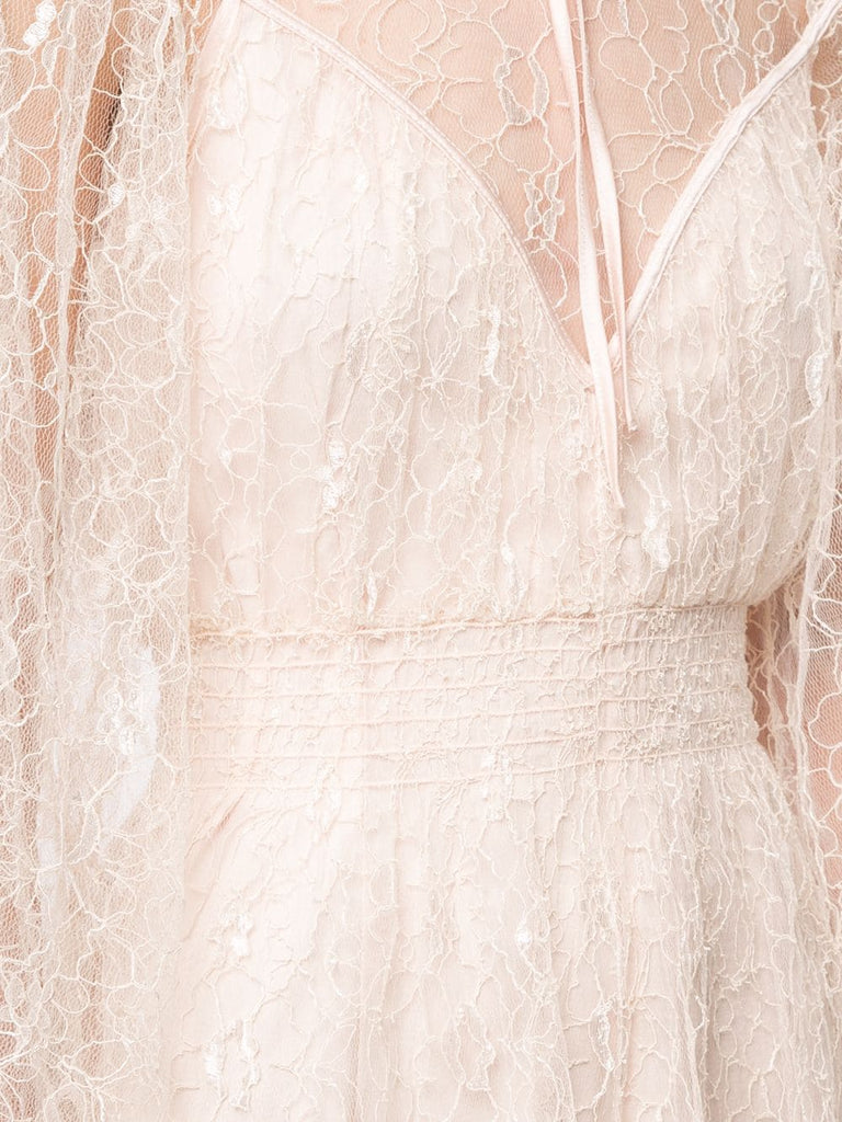 Nude Magicians Daughter Floral Lace Playsuit