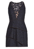 Black Hannah Lace Mini Dress