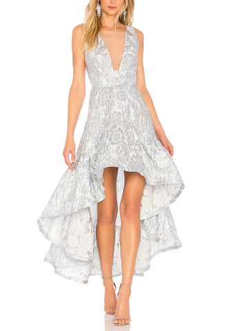White Viviana Ruffled Floral Mini Dress