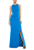 Royal Blue Chen Gold Chain Gown