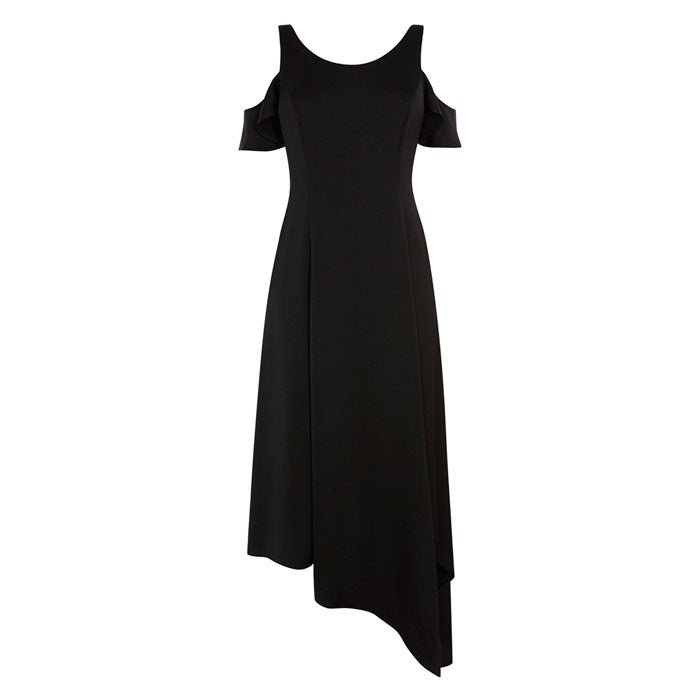 Black Livia Off Shoulder Wrap Dress