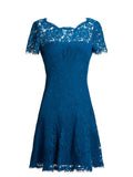 Blue Fifi Lace Mini Dress