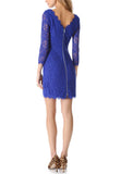 Royal Blue Zarita Lace Mini Dress