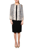 Tweed Lace Trimmed Jacket