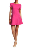 Fuchsia Ponte Fit & Flare Dress