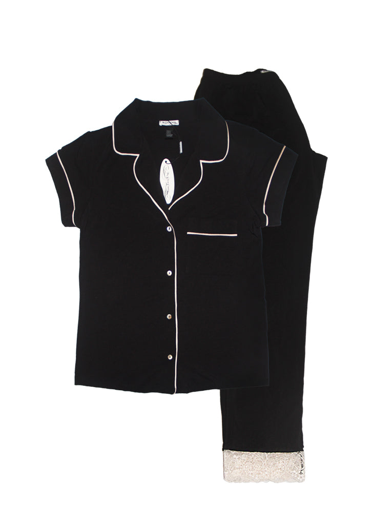 Joyce PJ - Black Short Sleeves