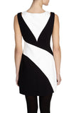Black and White Colour Block Mini Dress