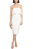White Driggs Strapless Midi Dress