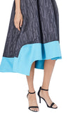 Dark Denim Blue Strapless Lucienne Colour Block Dress