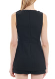 Black Irisa Sleeveless Playsuit