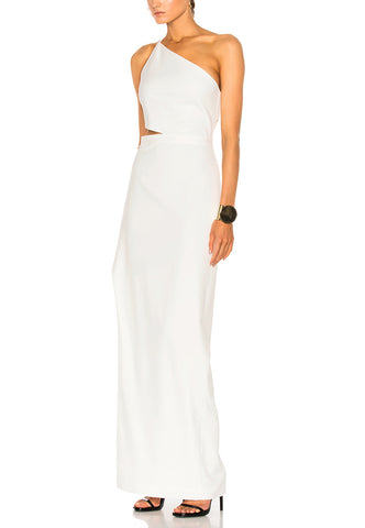 White Tiana Geometric Lace Midi Dress