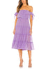 Lilac Micaela Off Shoulder Ruffled Midi Dress