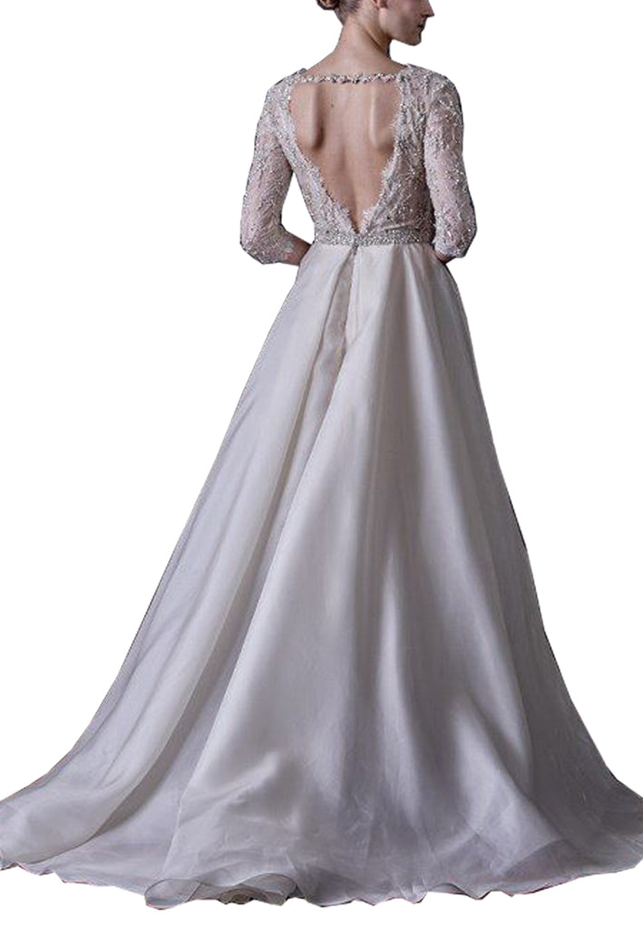 White Cadence Embellished Wedding Gown