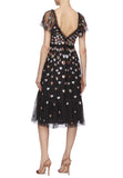 Black Love Heart Sequins Midi Dress