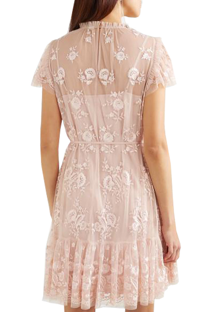 Blush Ashley Floral Embroidered Mini Dress