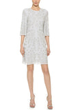 Light Grey Embellished Spring Motif Dress