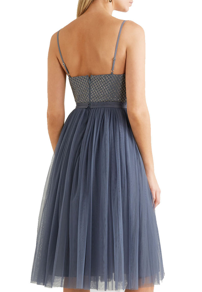 Blue Coppelia Embellished Ballet Tulle Dress