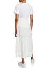 White T-shirt Dress with Lace Inserts
