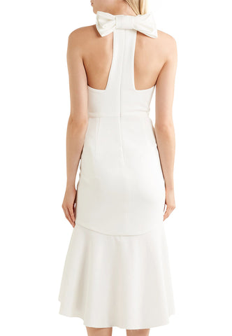 White Scarlet Open Back Wedding Dress