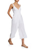 White Pleated Jumpsuit