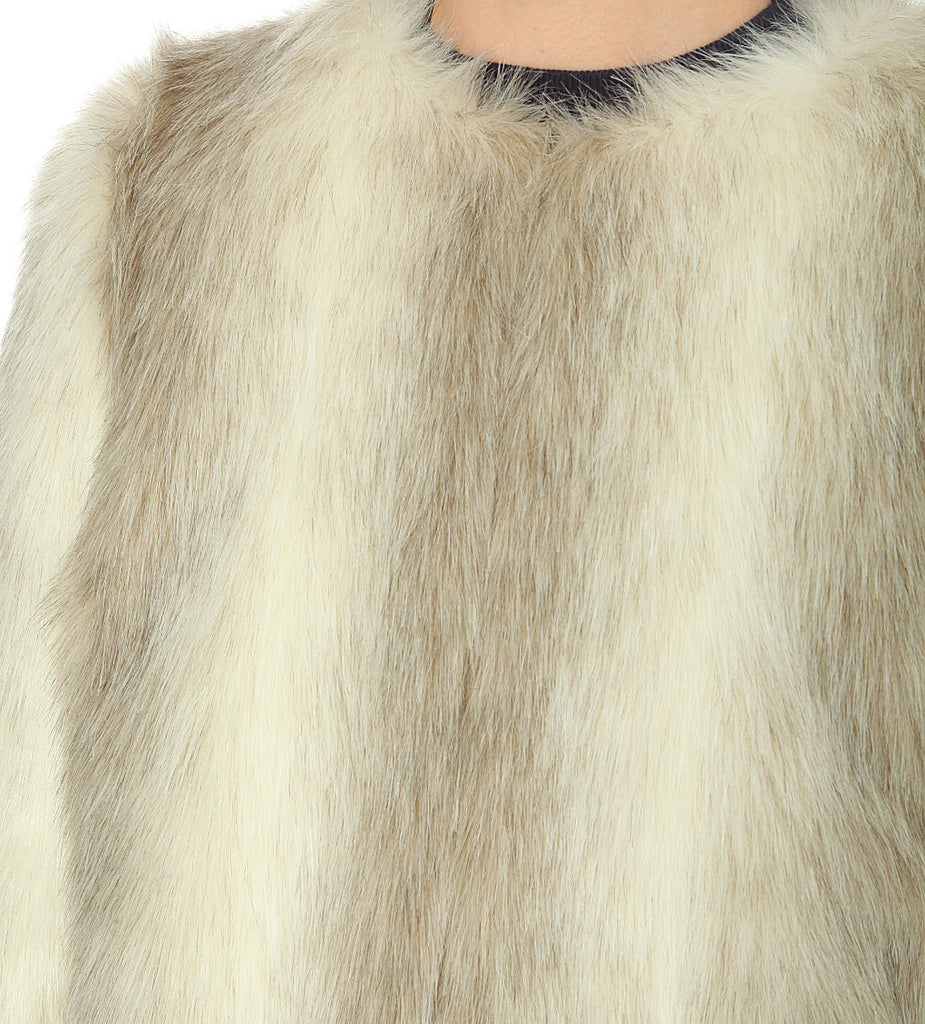 Beige Duvall Faux Fur Jacket (Pre-loved)