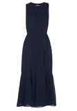 Dark Navy Adriane Star Midi Dress