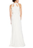 White Zoella Criss Cross Cutout Gown