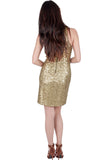 Gold Sequins Tank Mini Dress
