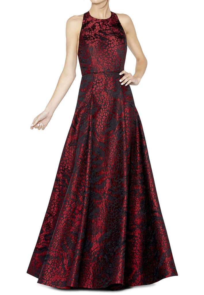 Red Teifer T Back Ball Gown