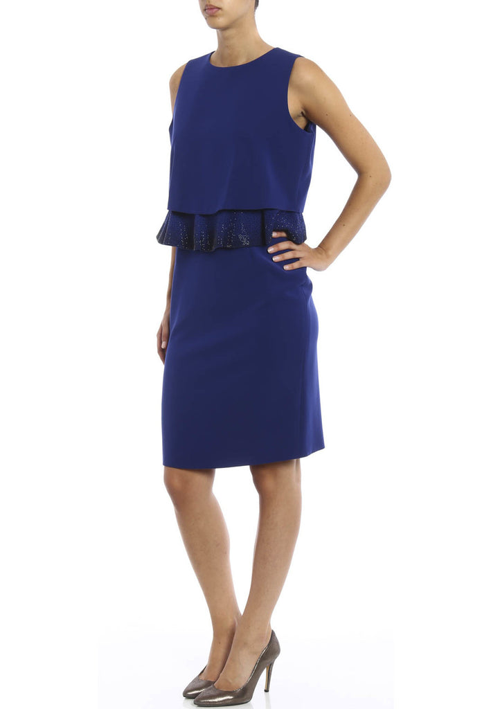 Royal Blue Embellished Peplum Dress