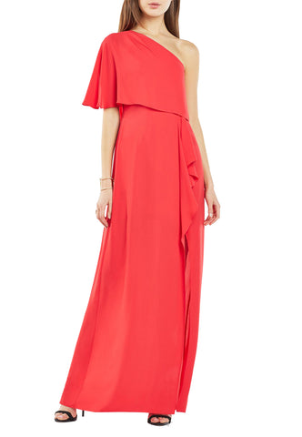 Blush 3/4 Sleeves Sequins Embellished Maxi Dress