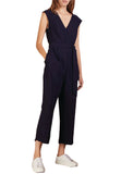 Dark Navy Lorenny Plunging Sleeveless Jumpsuit