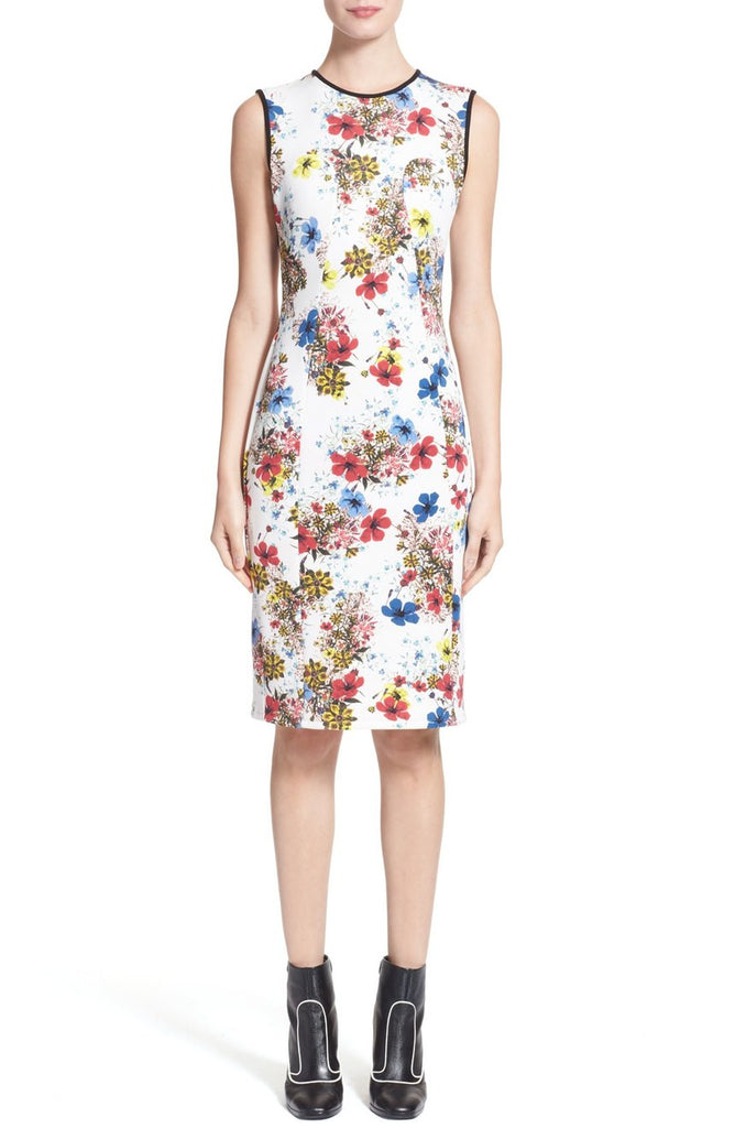 Floral Print Maura Sleeveless Neoprene Dress