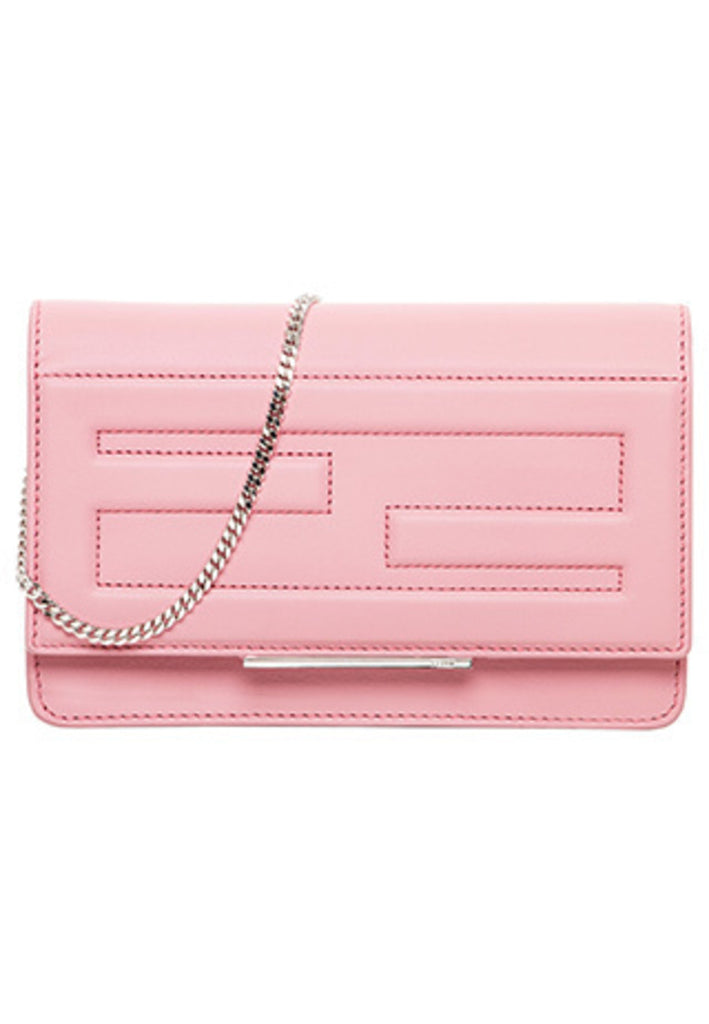 Pink Tube Wallet On Chain Crossbody Clutch Bag (Pre-loved)