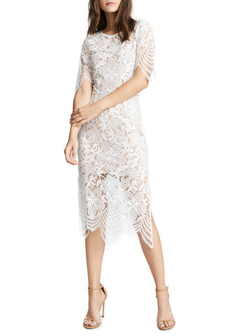 White Rome Eyelet Lace Dress