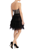 Black Tutu Polka Dot Strapless Mini Dress