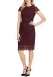 Burgundy Dana Lace Midi Dress