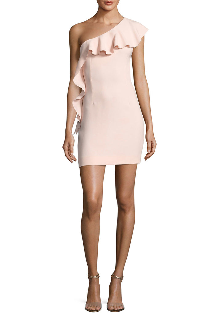 Blush Zoey One-Shoulder Ruffled Mini Dress