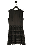 Black Scalloped Tulle Jersey Dress (Pre-loved)