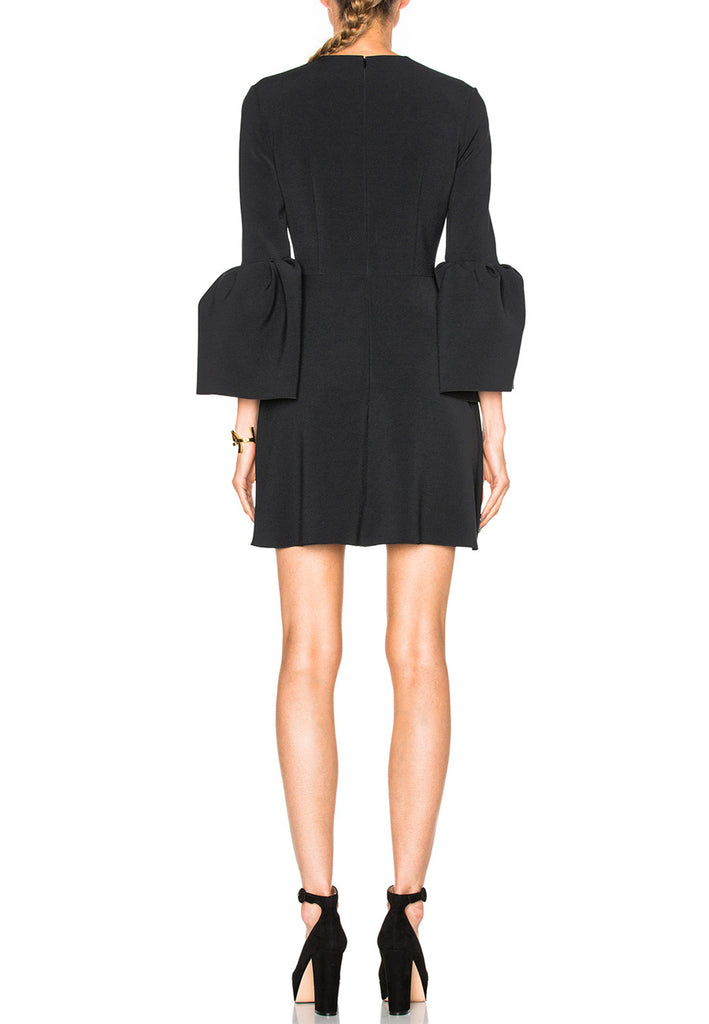 Black Hadari Bell-Sleeve Mini Dress