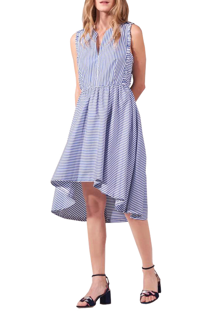 Blue Stripe Peggysue Lace Back Dress