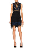 Black Clementine Guipure Lace Mini Dress